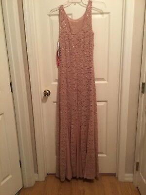 Mother of Bride Chiffon/lace Sleeveless Floor length size 12