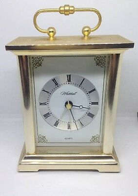 Vintage Whitehall Brass Carriage Clock,Quartz movement,fully working