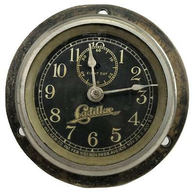 Antique PHINNEY-WALKER 1912-1915 CADILLAC Car Automobile Dashboard 8 Day Clock