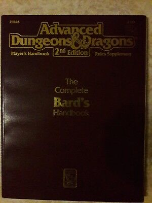 The complete Bards Handbook AD&D 2. Edition 2e, Advanced Dungeons & Dragons