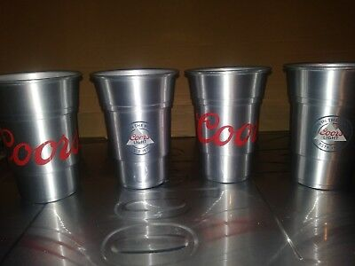 Coors Light Aluminum Cup Set of 4 Brand New 22 oz free ship