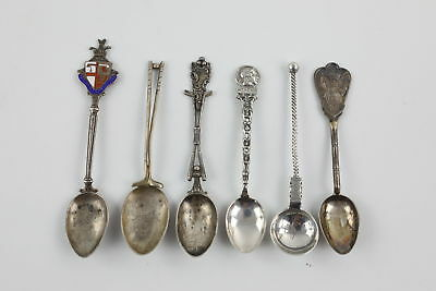 6 x Assorted Vintage .800 SILVER & .925 STERLING SILVER Teaspoons (81g)