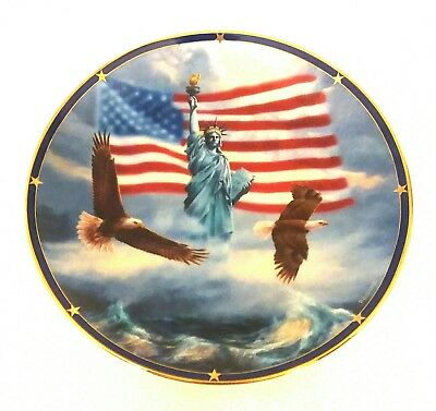 Danbury Mint Limited Spirit of America Collector Plate: America Stands Proud