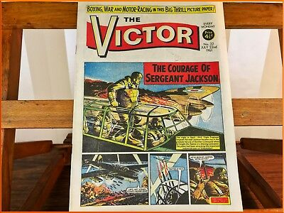 Vintage The Victor 1961 Comic British Boys Own Number 22 Military Cartoon
