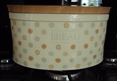 The Classic Collection Vintage Chic Polka Dot Oval Stonewear Bread Bin