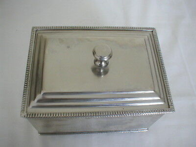vintage regency style silver plated box