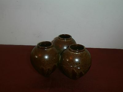 Vtg Three Mediterranean Olive Oil Amphora Terracotta Decorative Centerpiece