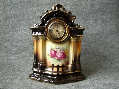 Mechanical China/Porcelain Mantel Desk Boudoir Clock