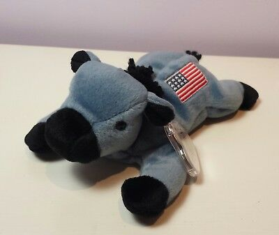 19e1469d0e0 NWT MINT LEFTY the Donkey Ty Beanie Baby 3rd Gen tush new with tags