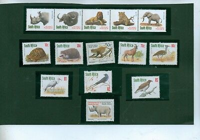 South Africa - 1997  Selection Of Animal/bird Stamps Including Airmail Strip