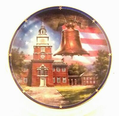 Danbury Mint Limited Spirit of America Edition Collector Plate:Independence Hall