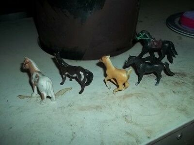 Toy Ponies  5 of them  with one Breyer Reeves
