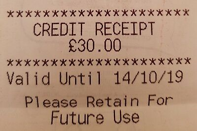 Marks and Spencer £50.31 gift credit receipt voucher