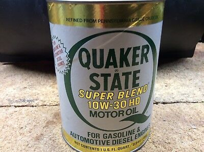 Vintage Quaker State Suoerblend Motor Oil, Paper Can
