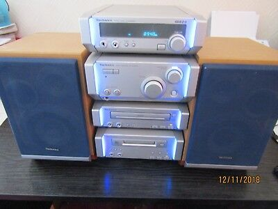 Technics mini Hi Fi Audio Stereo System HD 505/6 With 2 Speakers