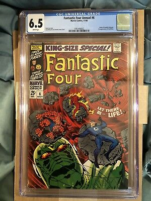 FANTASTIC FOUR ANNUAL #6 CGC 6.5 WHITE 1st ANNIHILUS Birth of Franklin LEE KIRBY