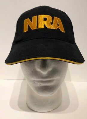 d8aae6bcd NRA HAT CAP One Size Black Adjustable New National Rifle Association USA  Flag