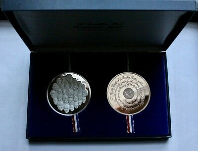 FRANKLIN MINT -  Bicentennial Sterling Silver and Bronze Medals