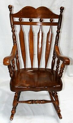 Vintage Lock 1776 Solid Birch Rocking Chair