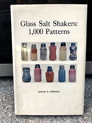 """""""Glass Salt Shakers 1,000 Patterns"""" SIGNED BY ARTHUR PETERSON! 1960/1970"""