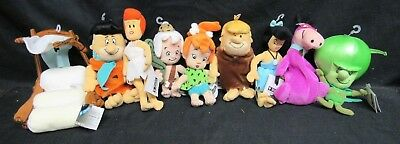 Lot (9) Warner Bros. The Flintstones Full Set Plush Bean Bags With Tags M228
