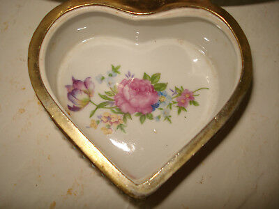 Beautiful Vintage Antique French Limoges Porcelain Lidded Jewelry Casket Box