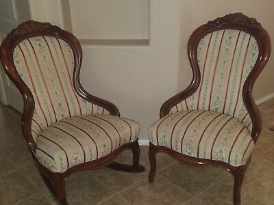Matching Set Antique Parlor Chairs 1880-1920