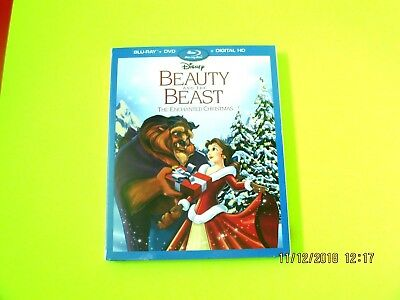 BEAUTY And the BEAST THE ENCHANTED CHRISTMAS  (Blu-ray/DVD/Digital) W/Slipcover
