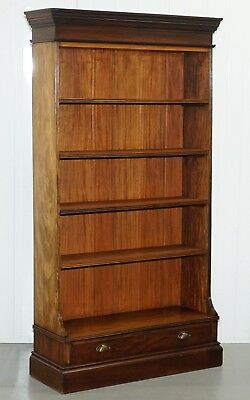 Original Circa 1880 Victorian Solid Mahogany Library Bookcase 179Cm Tall Drawer