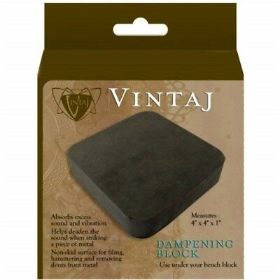 Beadsmith Rubber Dampening Block For Beading, 4 By 4 By 1-inch - Xx Vintaj