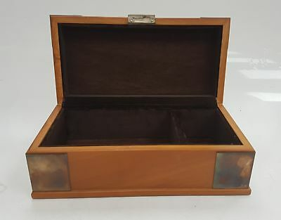 Carr's of Sheffield silver mounted jewellery box 2005 fully hallmarked #150