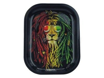 Smoke Arsenal RASTA LION Cigarette Tobacco Metal MEDIUM Rolling Tray 11x7