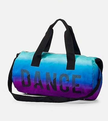 Justice S Purple Blue Ombre Dance Duffle Bag Dancer Tote Duffel New