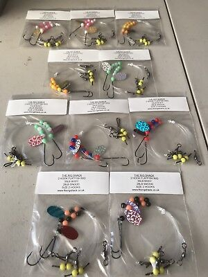10x Flatfish Sea Fishing Rigs From The Rig Shack. Size 2