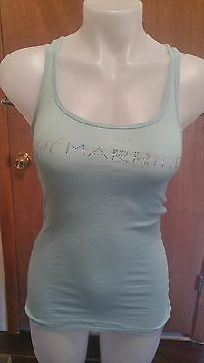 Victorias Secret Just Married light blue tank top size small