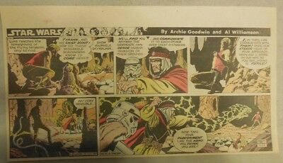 Star Wars Sunday Page by Al Williamson from 9/20/1981 Third Page Size!