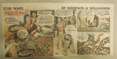 Star Wars Sunday Page by Al Williamson from 10/18/1981 Third Page Size!