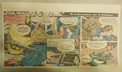 Star Wars Sunday Page by Al Williamson from 11/29/1981 Third Page Size!
