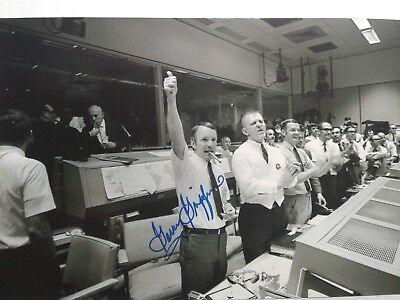 Gerald (Gerry) Griffin Hand Signed 4X6 Photo - Apollo 13  Flight Director