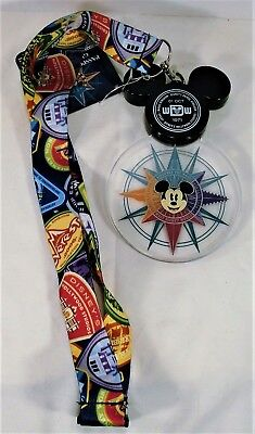 Disney 2018 Discover The Magic Mickey Passport Animated Light Up Lanyard NEW