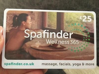 Spafinder wellness 365 £25 giftcard