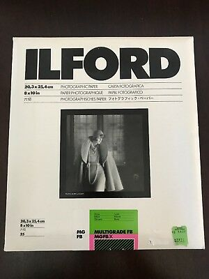 Ilford 8 x 10in Multigrade FB MGFB 1k Photographic Paper 25 Sheets