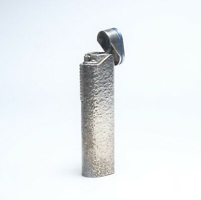 Vintage High Grade Pierre Cardin Lighter Collectible Hammered Silver Finish