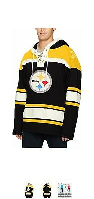 OTS NFL Adult Men s Pullover Hoodie Pittsburgh Steelers Large FAST FREE f389ef482