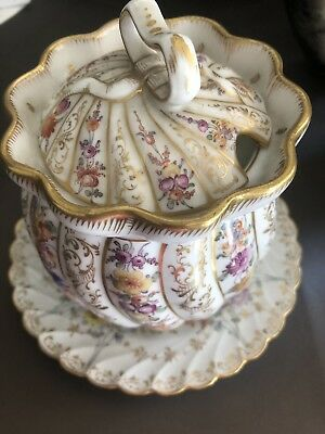 Antique Dresden  Serving Bowl