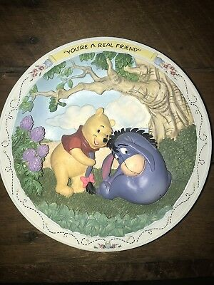 """Disney's Winnie The Pooh And Friends """"You're A Real Friend"""" Plate-1995"""