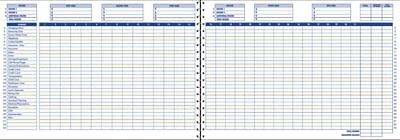 """Adams 10 1/2"""" x 7 1/2"""" Home Budget Book, 56 Pages, White Sheets, Navy Cover"""