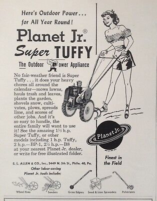 1954 Ad(J6)~Planet Jr. Super Tuffy Cultivator. S.l. Allen & Co. Phil., Pa.