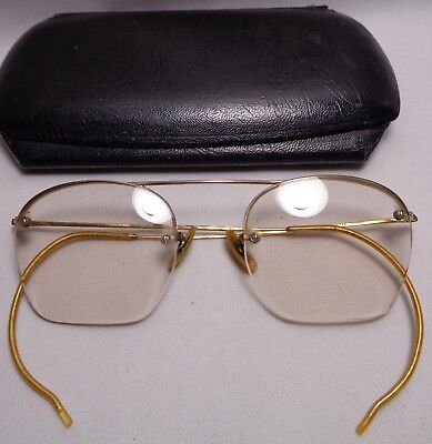 Vintage 12K Gold Filled B & L Eyeglasses Spectacles Optical With Case