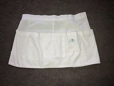 Scrub Med Apron White Pockets One Size Fits All